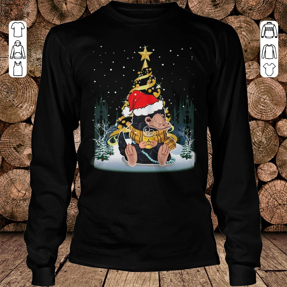 Nice Christmas tree Under Snow Niffler Santa Hat shirt sweatshirt Longsleeve Tee Unisex