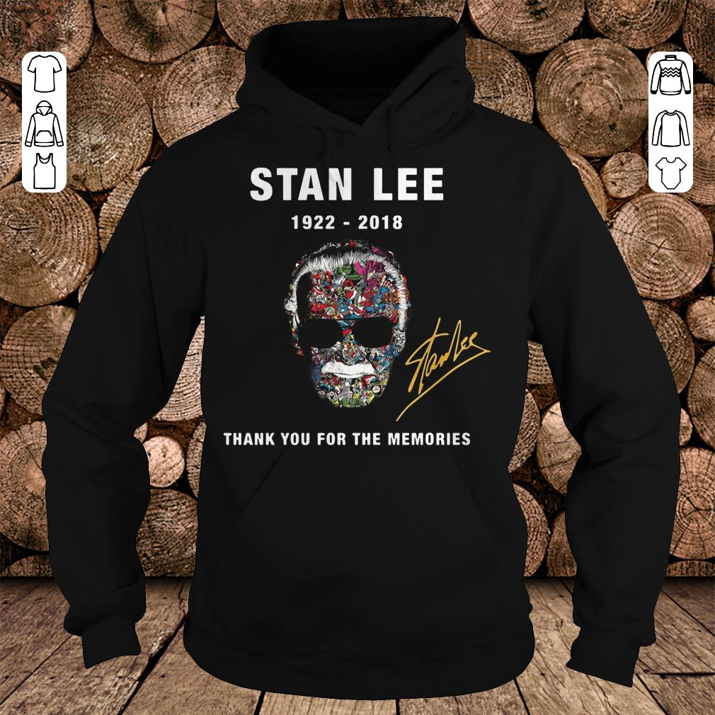 Nice Thank you for the memories Stan Lee Shirt sweater Hoodie