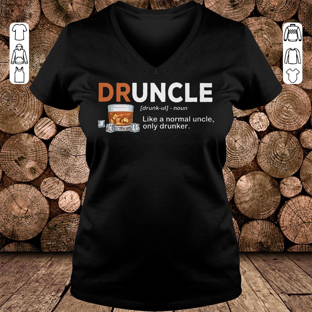 Original Druncle definition Shirt sweatshirt Ladies V-Neck