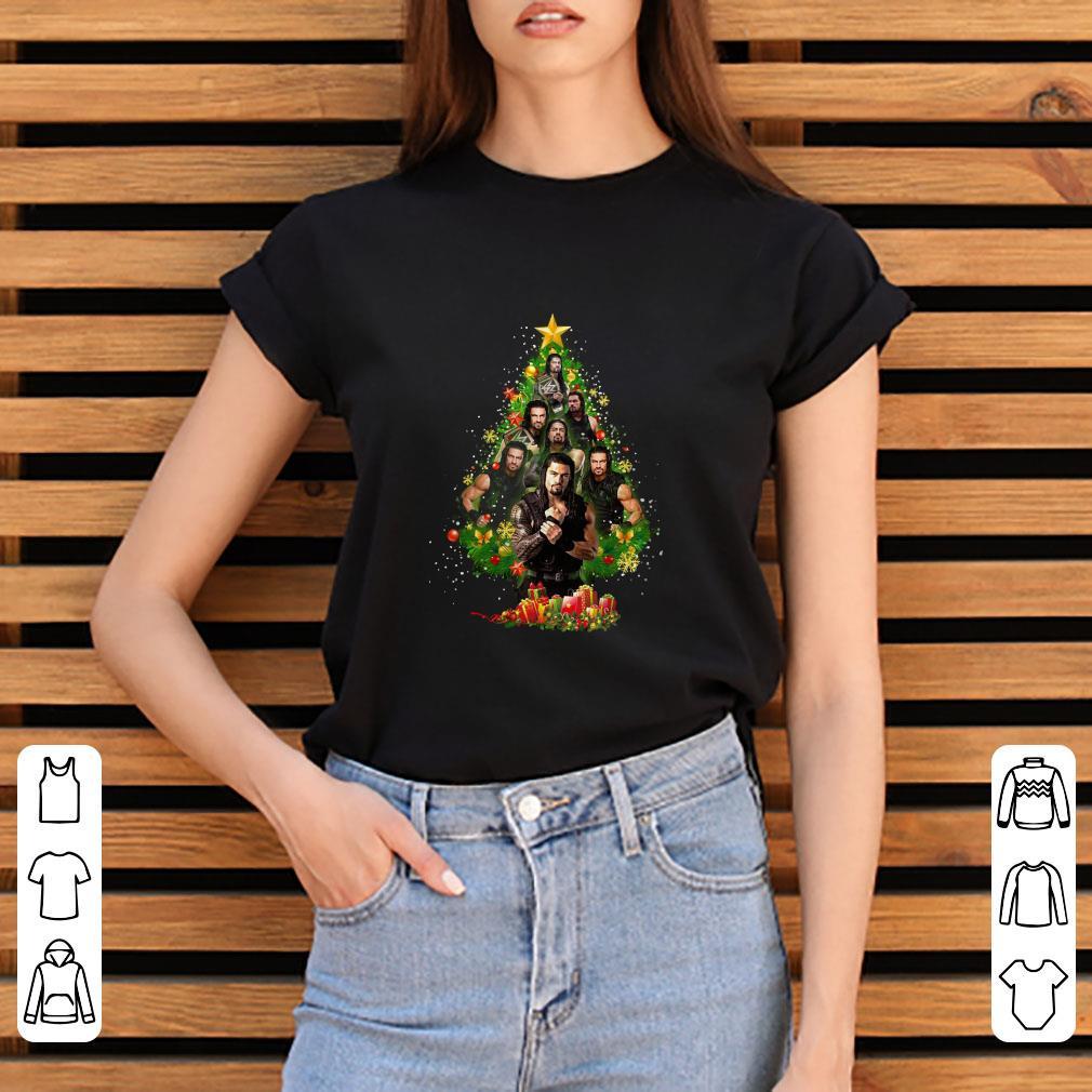 Premium Roman Reigns Christmas Tree shirt