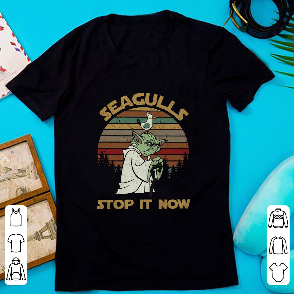 Premium Seagulls stop it now shirt