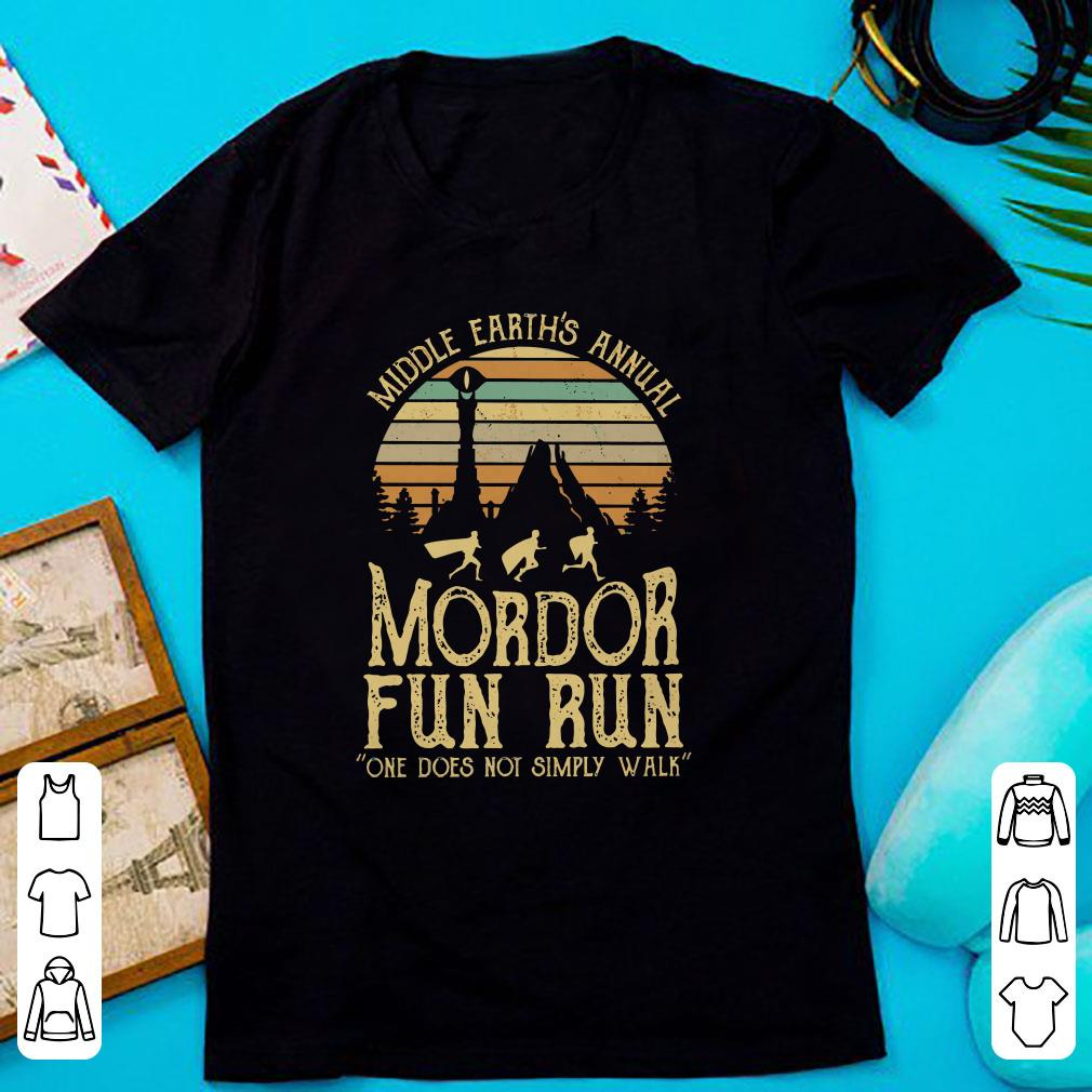 d7df500db Original Sunset middle earth's annual mordor fun run one does not simply  walk shirt