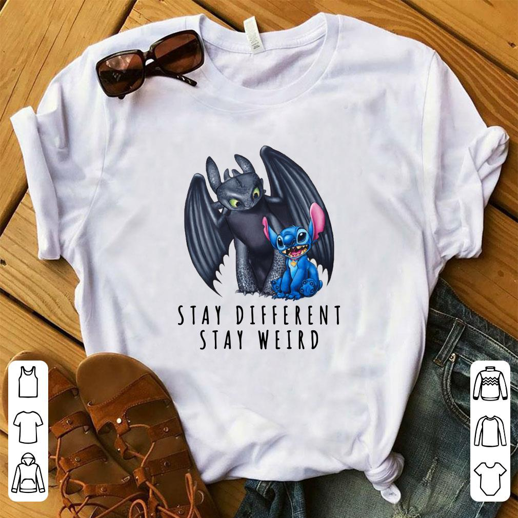 Official Toothless and Stitch Stay different stay weird shirt
