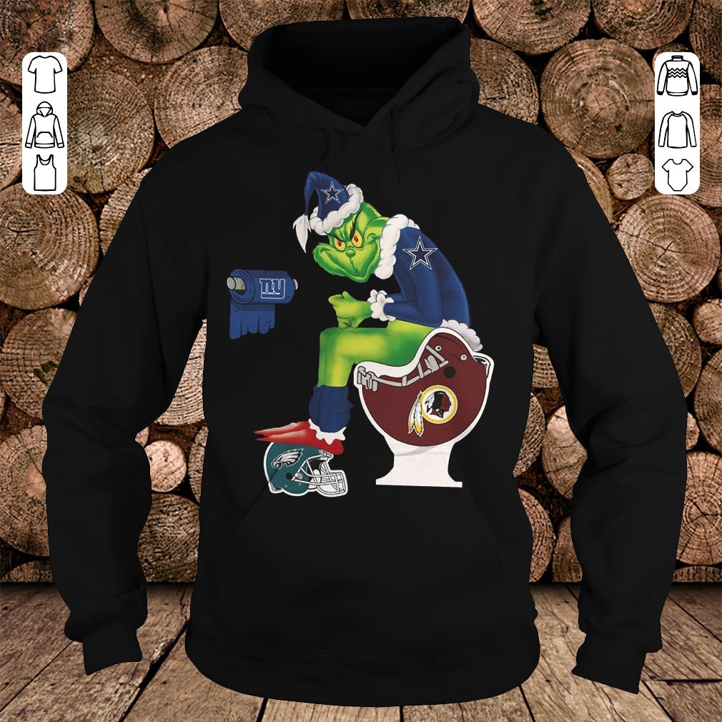 Top Dallas Cowboys Grinch Santa Washington Redskins Toilet shirt sweater Hoodie