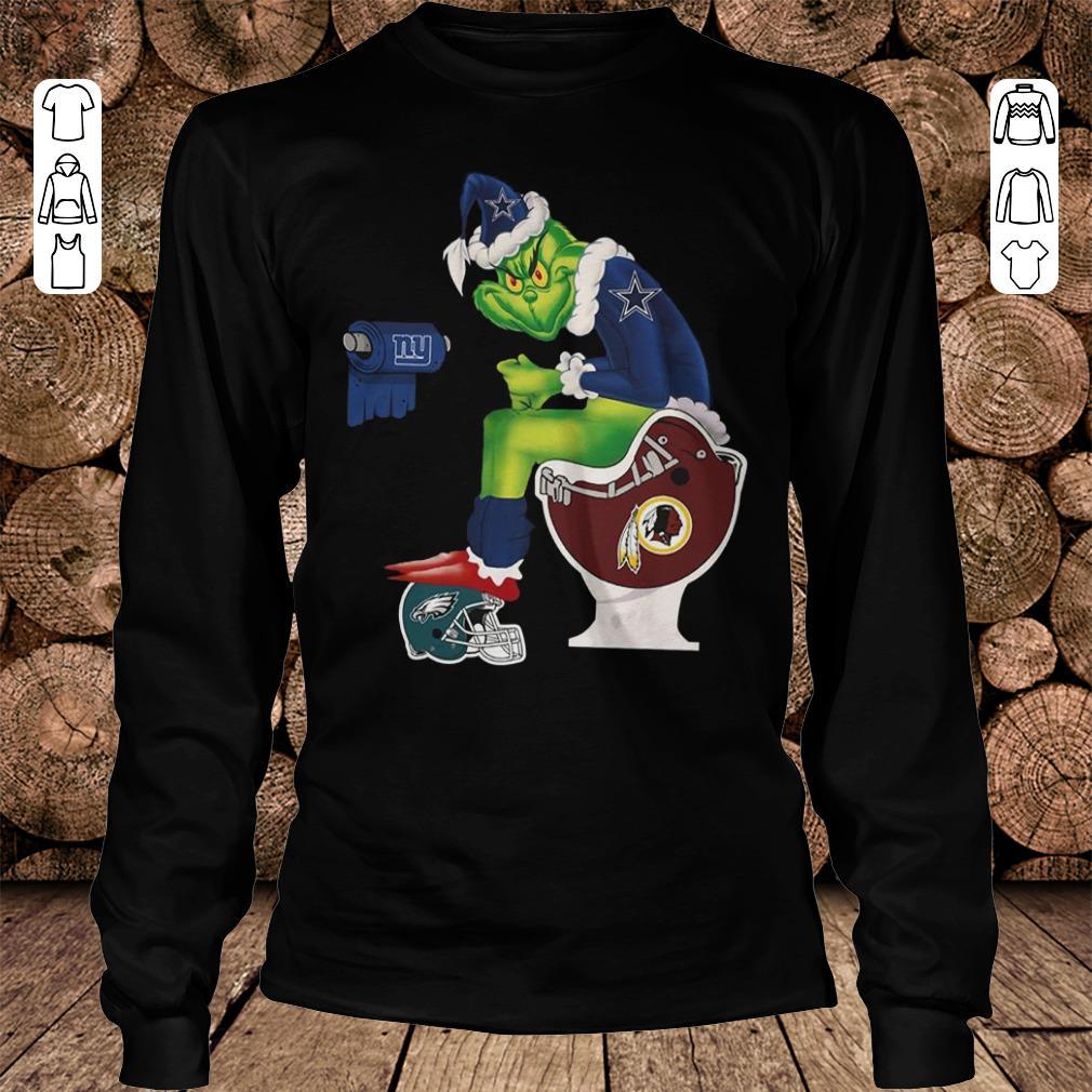 Top Dallas Cowboys Grinch Santa Washington Redskins Toilet shirt sweater Longsleeve Tee Unisex