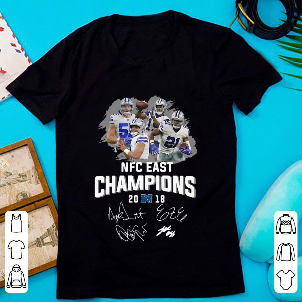 Dallas Cowboys players NFC East champions 2018 signature shirt ec57ef14d