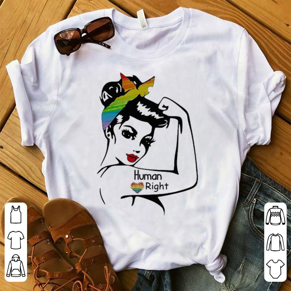 Cute Rosie pin up breast cancer LGBT human right shirt
