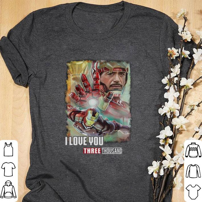 Awesome Avengers Endgame Iron Man I love you three thousand daughter shirt