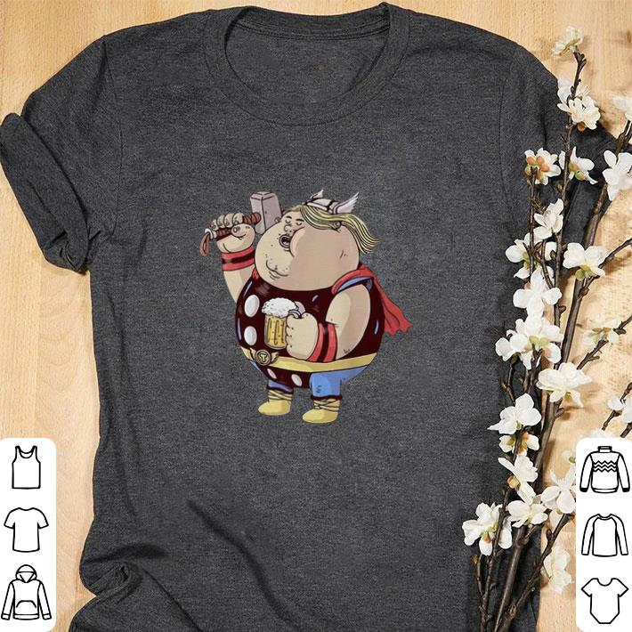 Awesome Avengers Endgame Thor fat and beer shirt