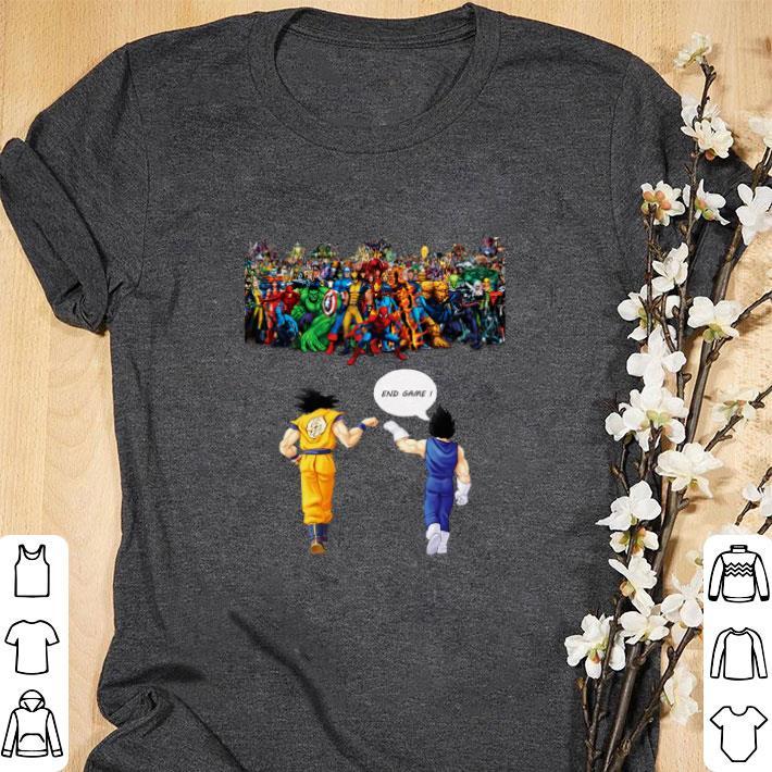 Awesome Dragon ball z Son goku Vegeta End Game Z Avengers Endgame shirt