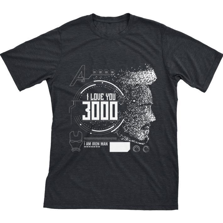 Awesome I love you 3000 I am Iron man Marvel shirt