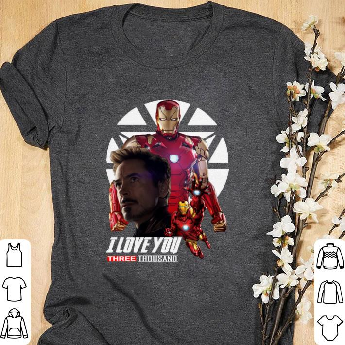 Awesome Iron Man I love you three thousand Endgame shirt