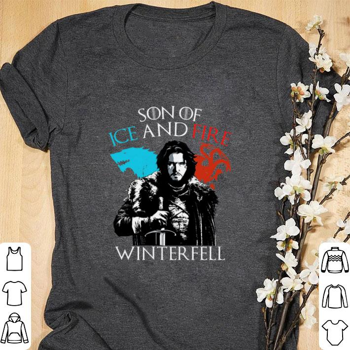 Awesome Jon Snow Son of ice and fire Winterfell shirt