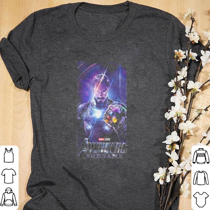 Awesome Marvel Avengers Endgame Iron Man Infinity Gauntlet shirt