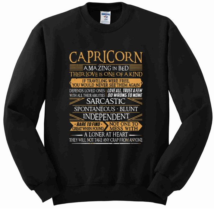 Funny Capricorn a loner at heart they will not take any crap from anyone shirt