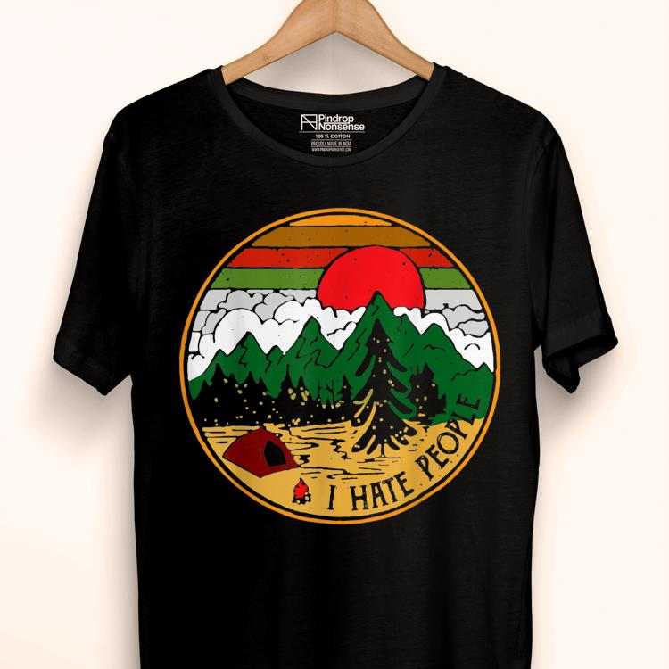 Love Camping I Hate People Sunset Retro shirt