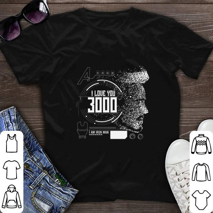 Nice I love you 3000 I am Iron man Marvel shirt