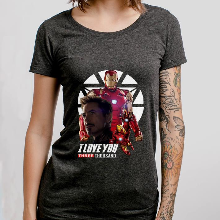 Official Iron Man I love you three thousand Endgame shirt