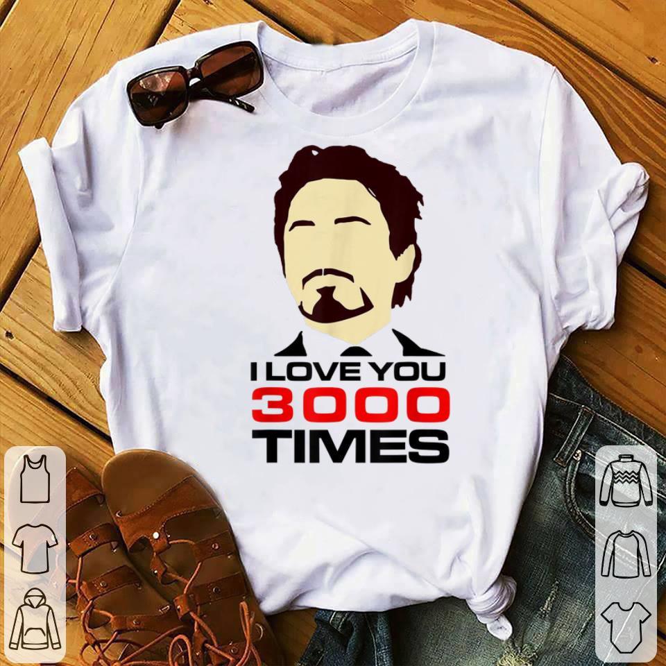 Original Dad I Love You 3000 Tony Stark End Game shirt