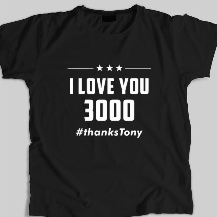 Original I Love You 3000 Arc Reactor Iron Man #thanksTony shirt