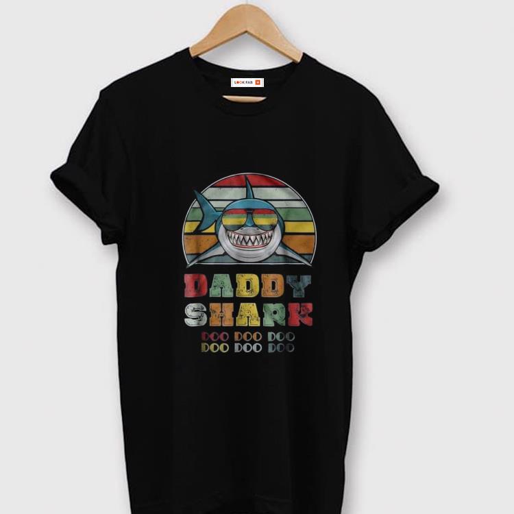 Original Vintage Daddy Shark Doo Doo Doo Father day Shirt