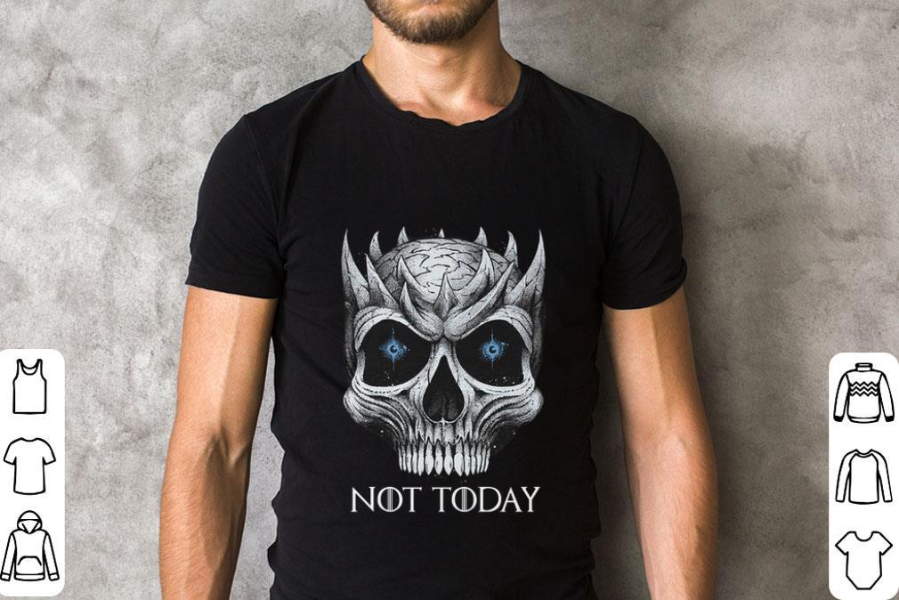 Premium Skull Night King Not Today Game Of Thrones shirt