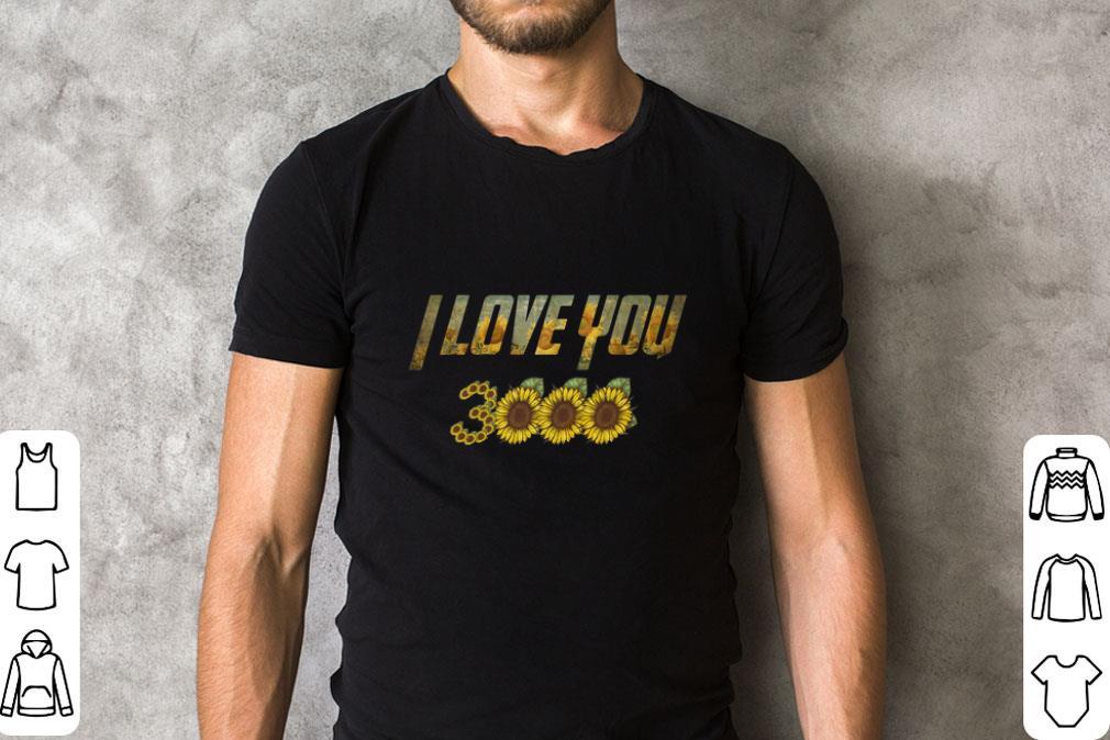 Premium Sunflowers I love you 3000 Iron man shirt