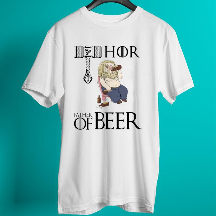 Pretty Avengers endgame fat Thor father of beer shirt