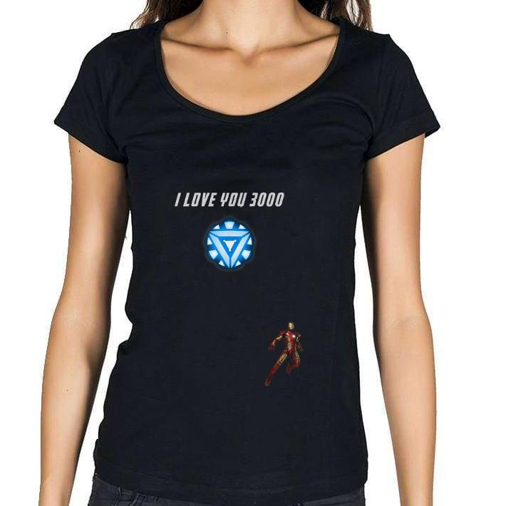 Pretty Iron man Arc reactor I Love You 3000 End game Marvel shirt