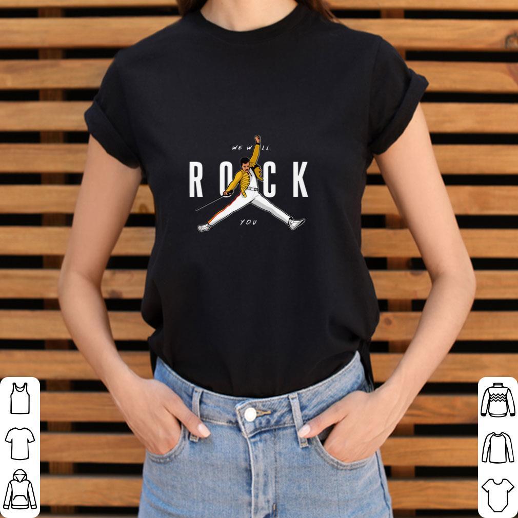 812212468 Top Freddie Mercury Air Jordan we will rock You shirt, hoodie ...