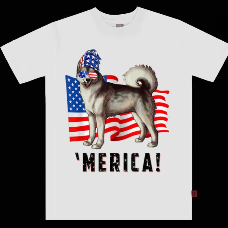 4th Of July Alaskan Malamute Dog Merica Tee Shirt 1 1.jpg