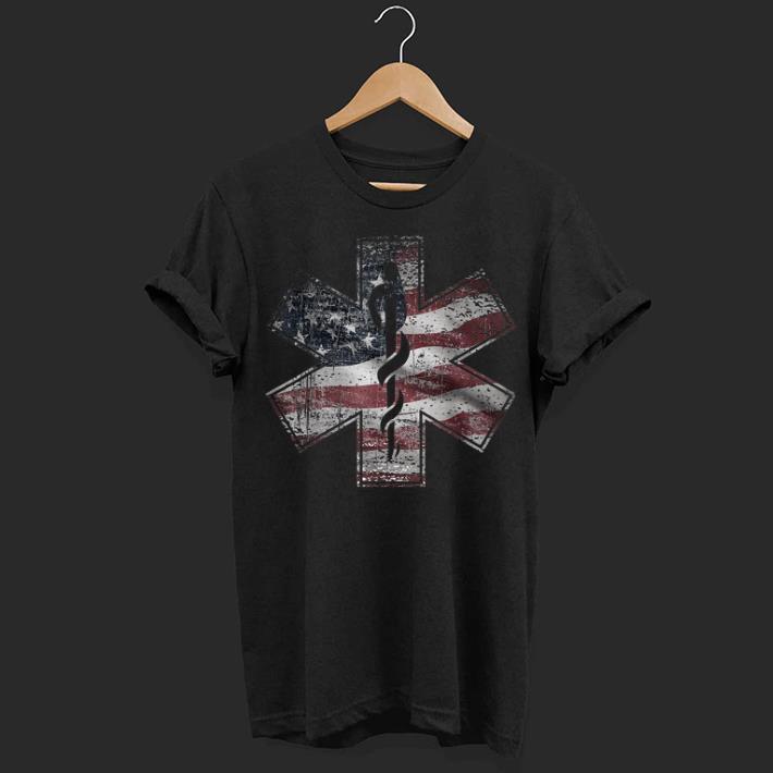 4th Of July Paramedic Ems Emt Usa American Flag Tee shirt