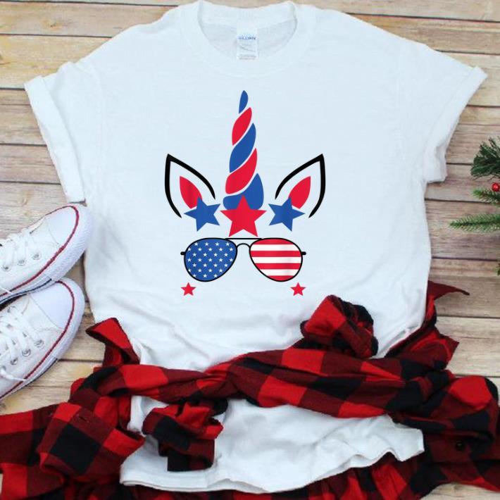 4th Of July Unicorn American Flag Patriotic Gift sjirt