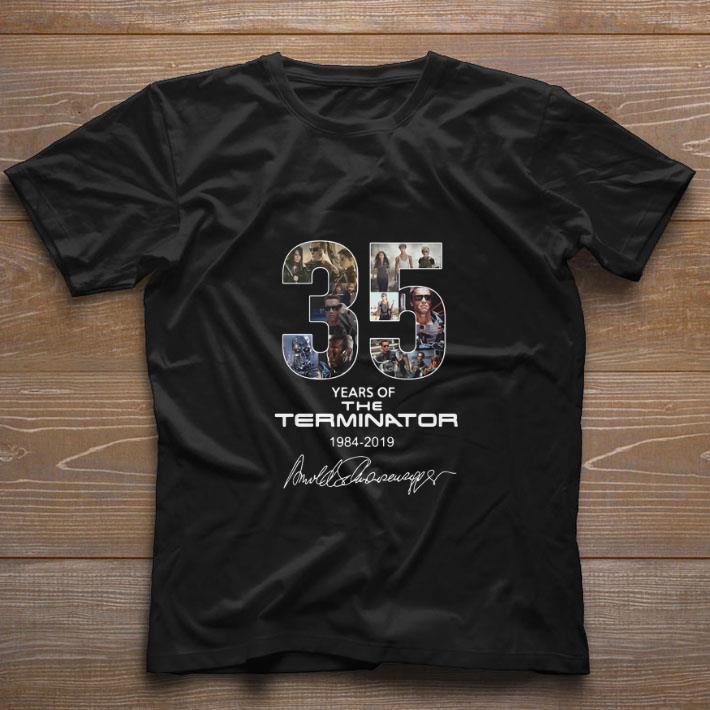 Awesome 35 years of the Terminator 1984-2019 signatures shirt