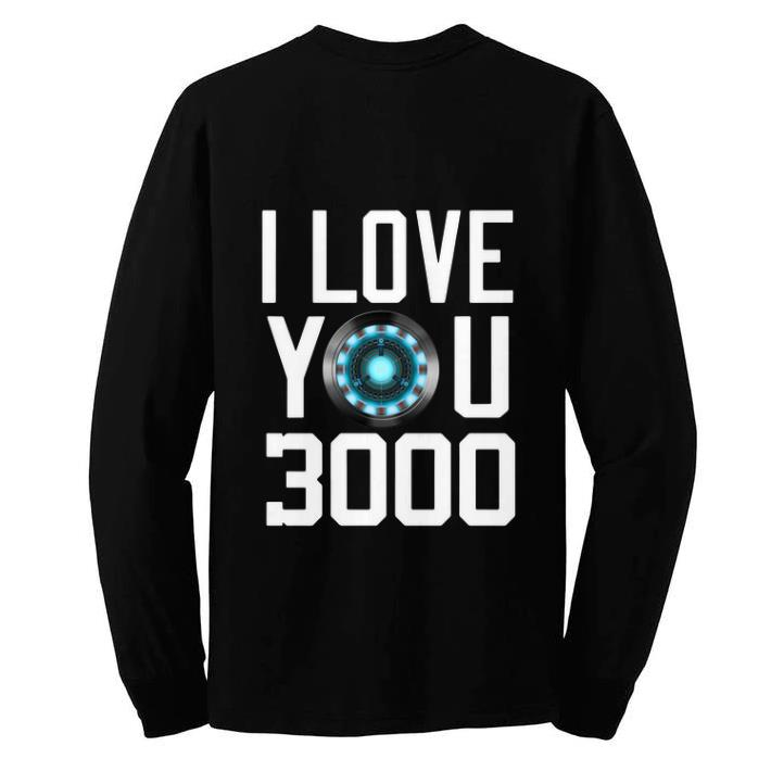 Awesome Heart I Love You 3000 Dad and Daughter Iron Man Arc reactor shirt