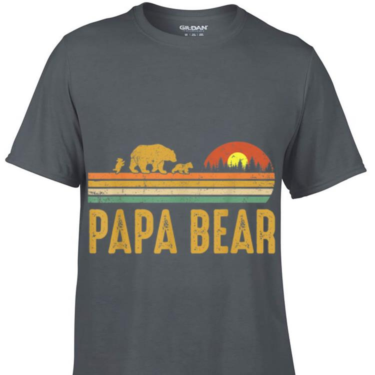 Awesome Papa bear Vintage Wildling Father Day shirt