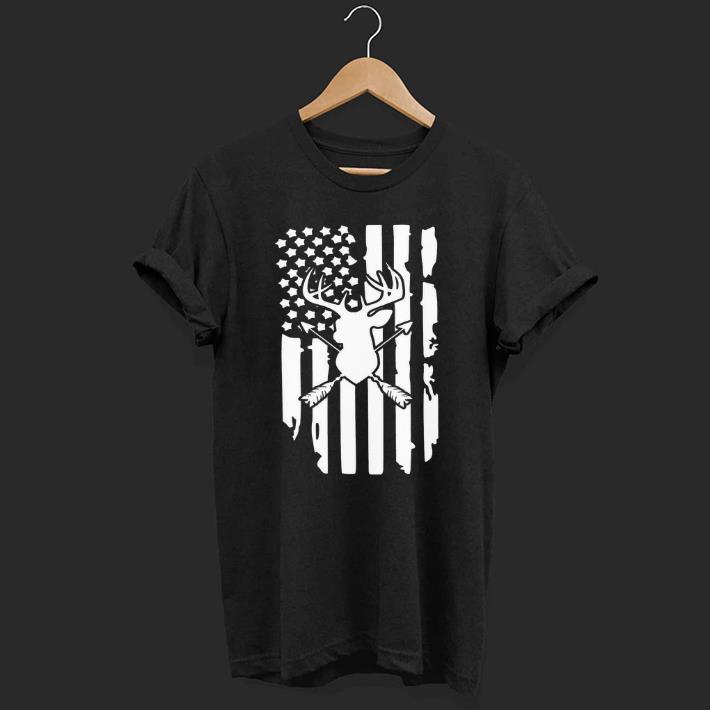 Deer Arrow Hunting Deer American Flag shirt