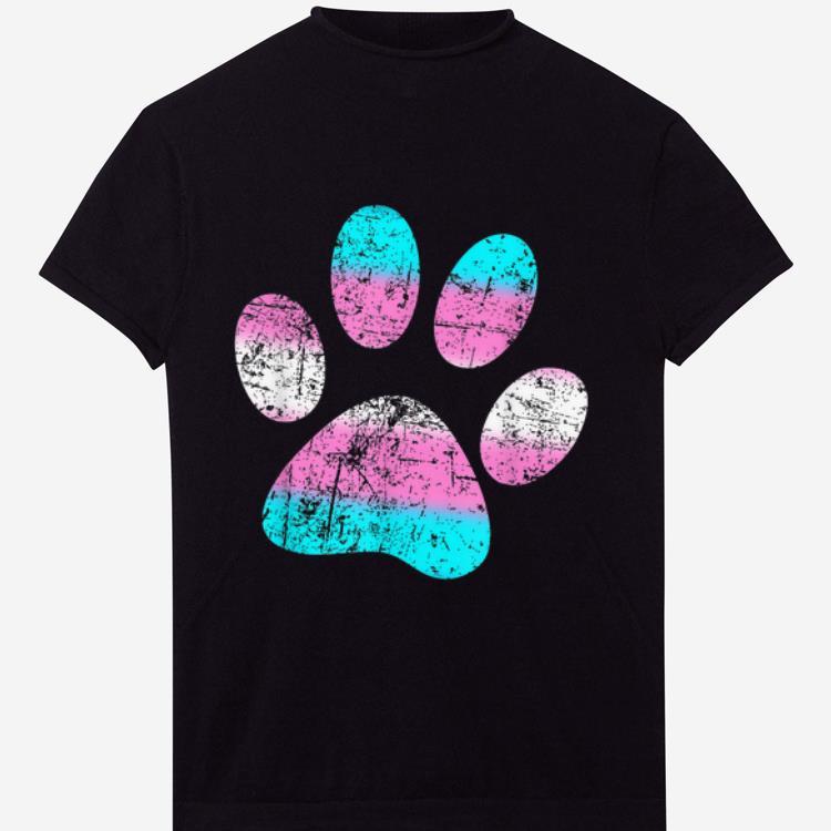 Furry Transgender Pride Flag Trans Dog Paw LGBT Cat shirt