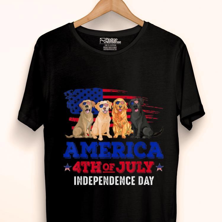 0859da0bfe Original 4th Of July Fun American Flag Labrador Dog Lover Gift Shirt ...