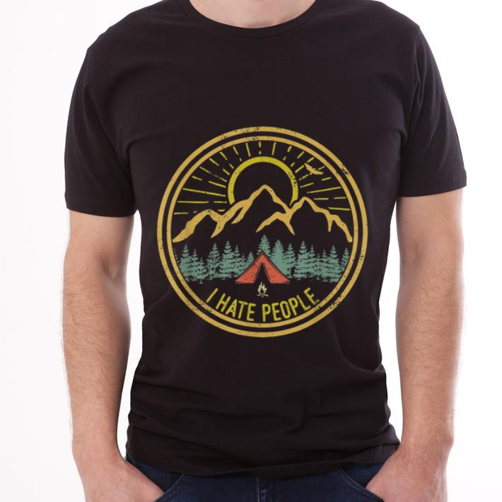 Original Camping I Hate People Funny Camp Lovers Retro shirt
