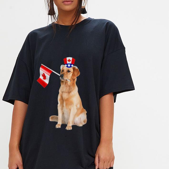 Original Canada Maple Leaf Golden Retriever Canadian Flag Shirt