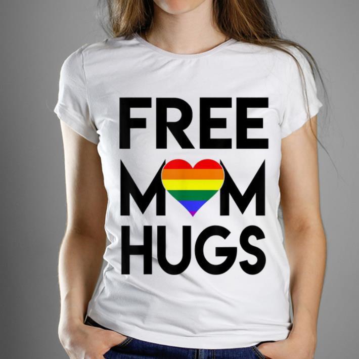Original Free Mom Hugs Rainbow Heart Lgbt Pride Month Shirt
