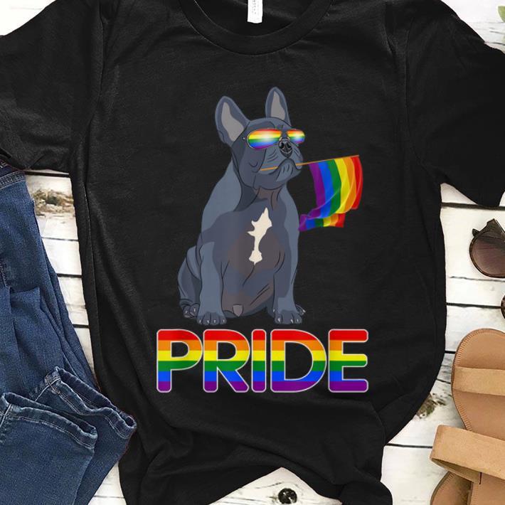 Original Lesbian Gay Pride LGBT Rainbow Flag Frenchie Dog Gift Shirt