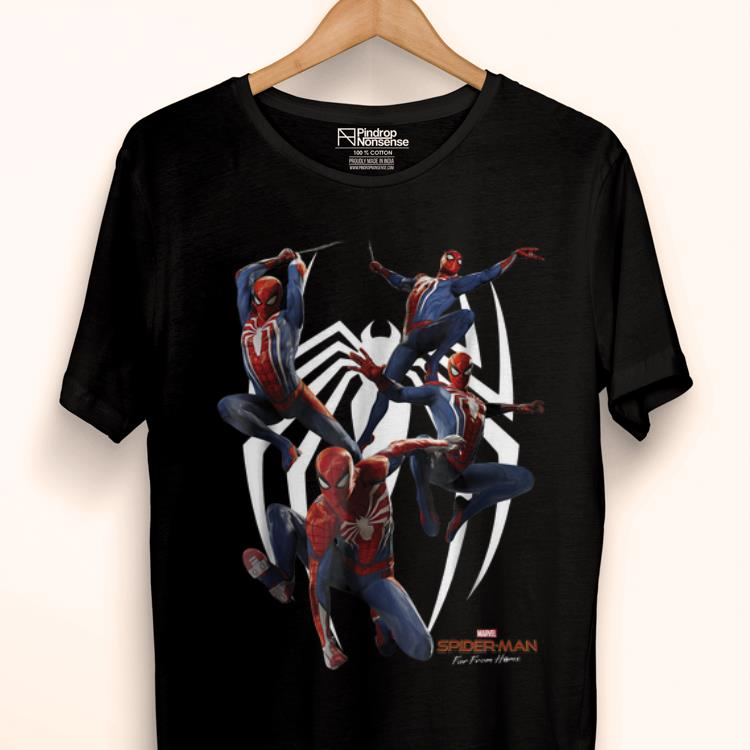 Original Marvel's Spider-man Game Action Poses Graphic shirt