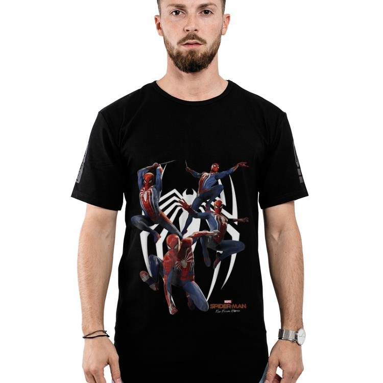 Original Marvel's Spider-man Game Action Poses Graphic shirt