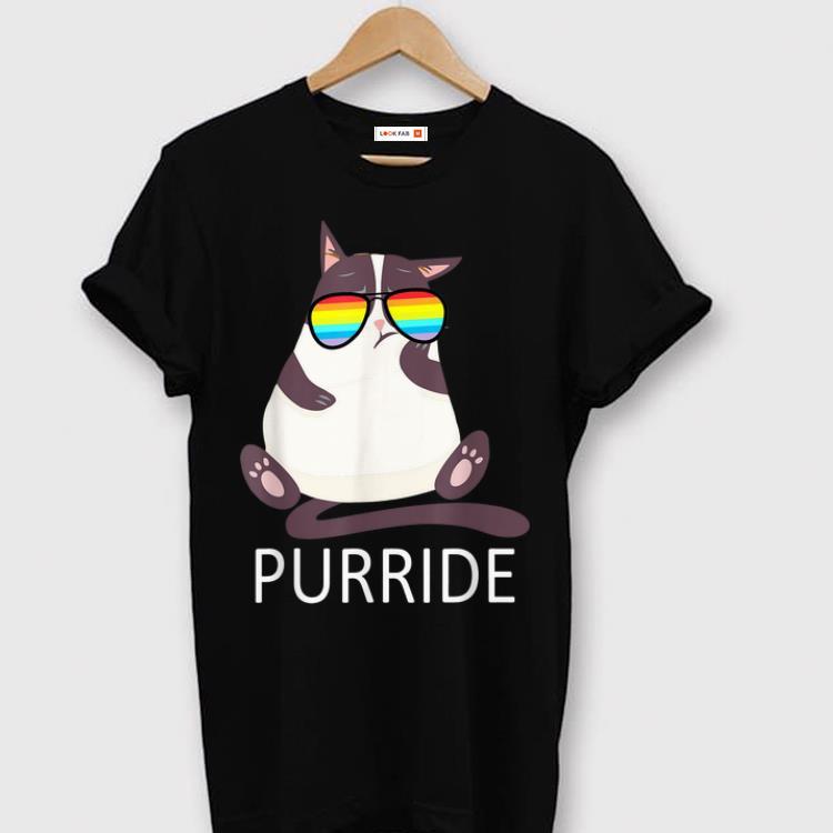 Original Purride LGBT Cat Gay Lesbian Pride shirt