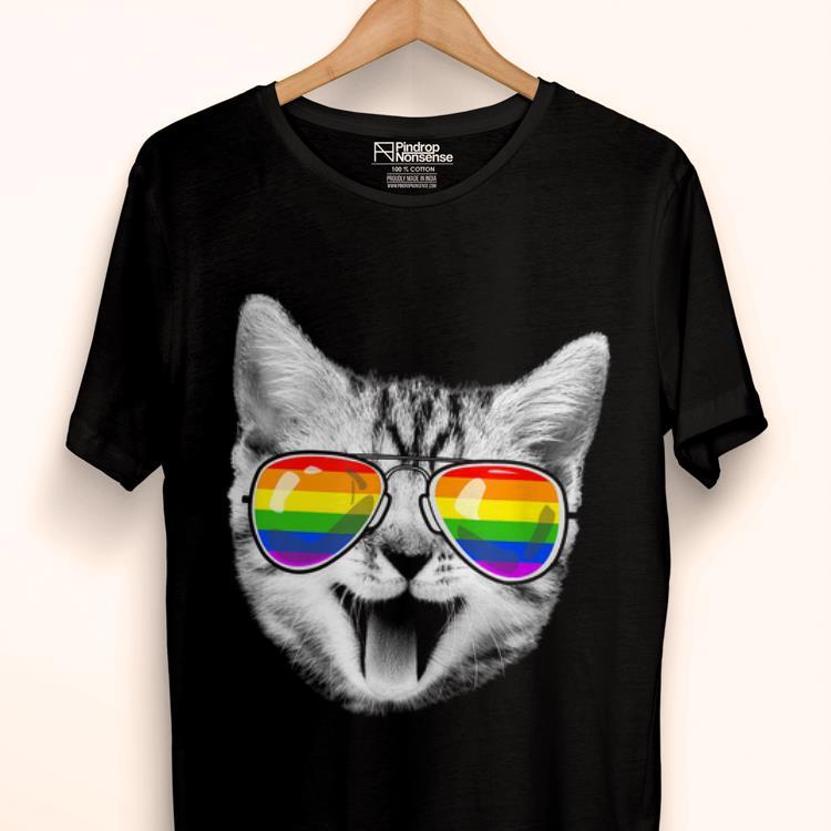 4e143927 Premium Cat LGBT Rainbow Flag Gay Pride For Men Women Shirt, hoodie ...