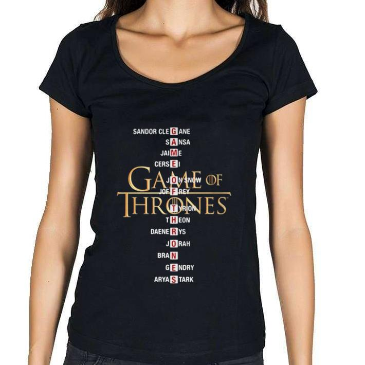 Premium Game of Thrones list name characters shirt