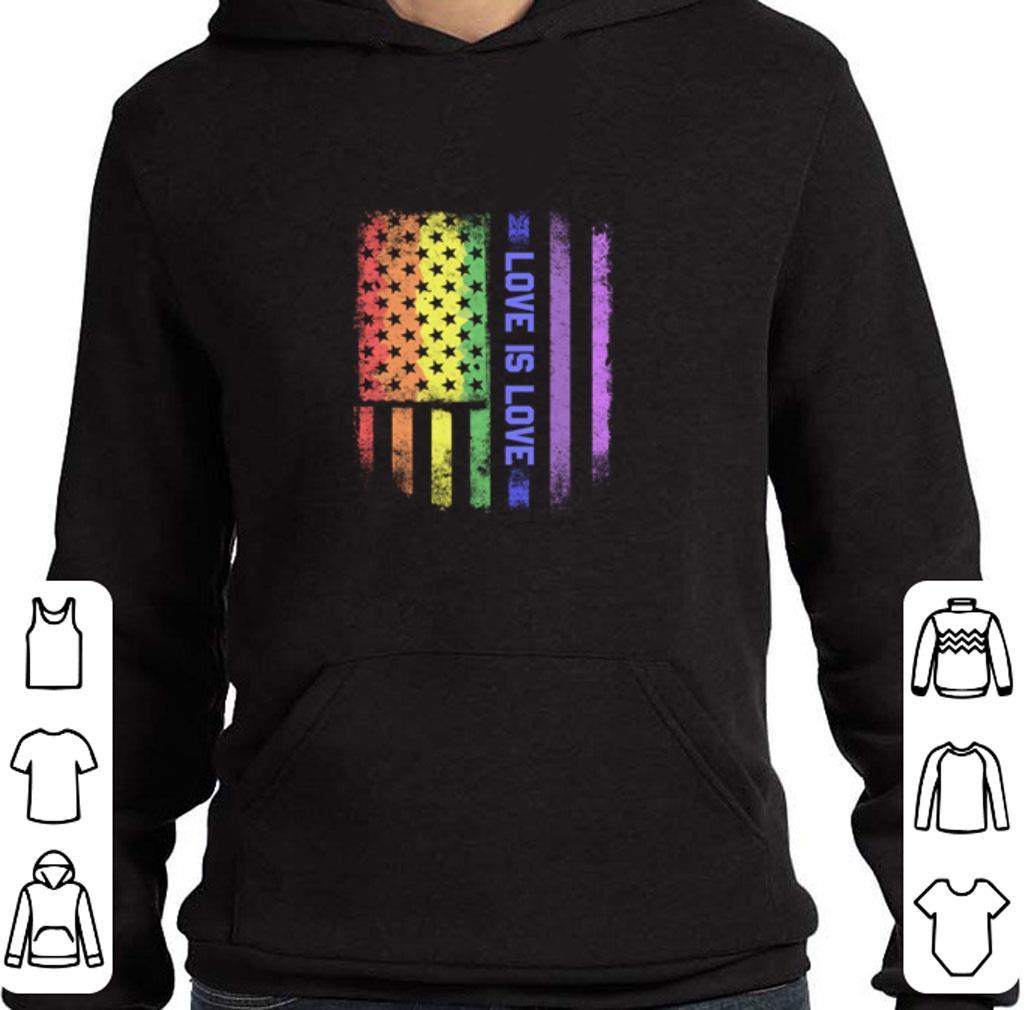 Premium LGBT love is love American flag shirt