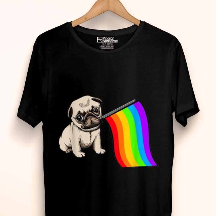 Premium Pug Dog Rainbow Flag LGBT Gay Pride Awareness Month Shirt